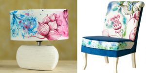 Beautifully painted upcycled products